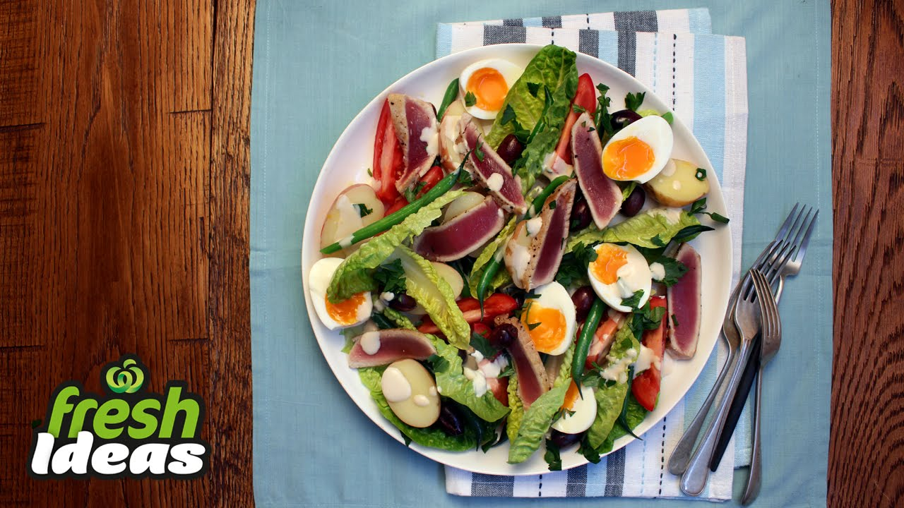 Nicoise Salad Recipe With Fresh Tuna Baby Red Delight Potatoes Woolworths
