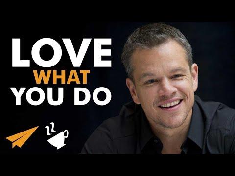 LOVE what you do - Matt Damon - #Entspresso