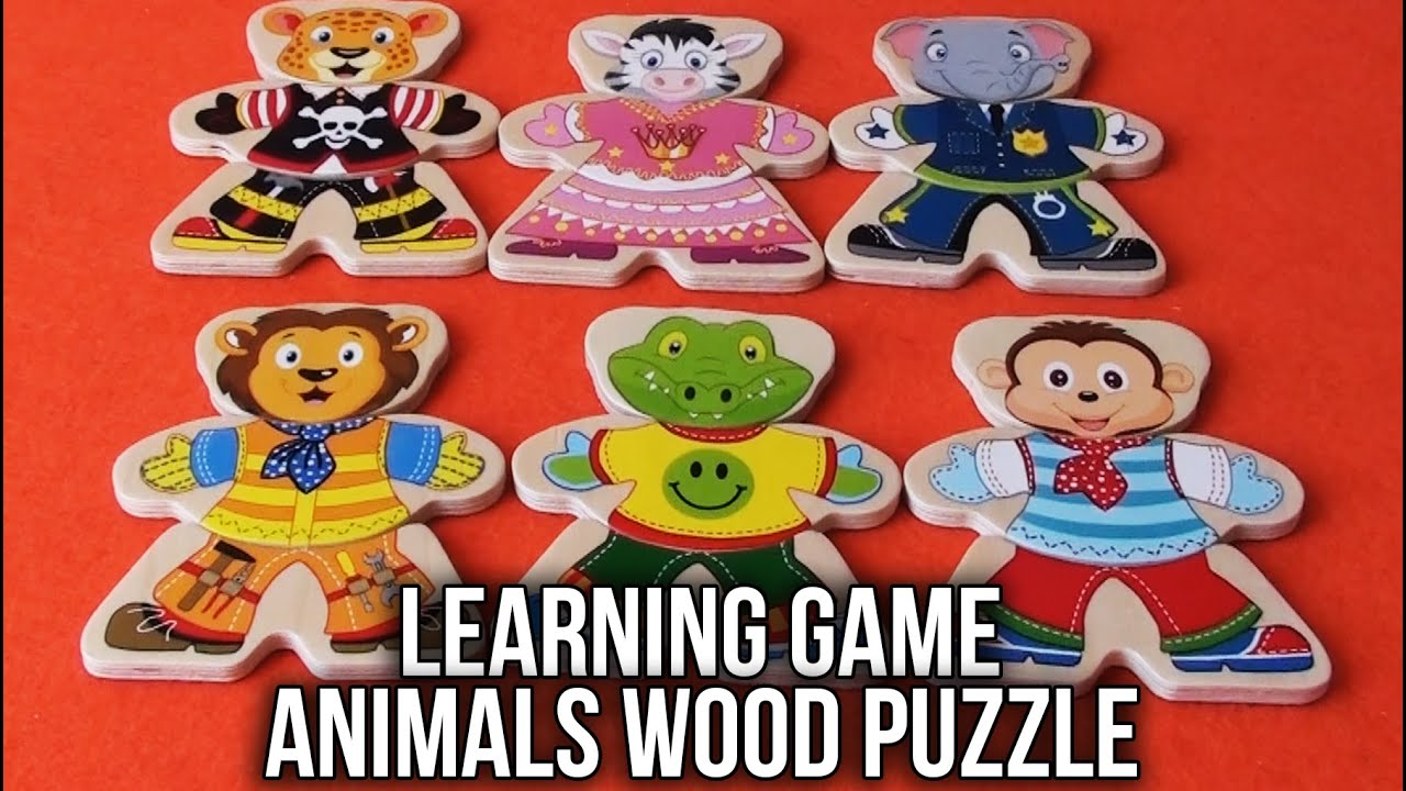 Playtive Junior Animals Learning Game Wood Puzzle Lion