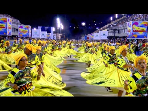 MYTHICAL BRAZILIAN BAIANAS  FILMED HIGH DEFINITION: RIO CARNIVAL SAMBADROME