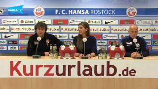 Die Pressekonferenz nach dem Heimspiel gegen Energie Cottbus