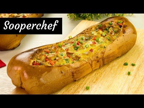 Breakfast Sausage Egg Boat Recipe | Breakfast Recipe By SooperChef