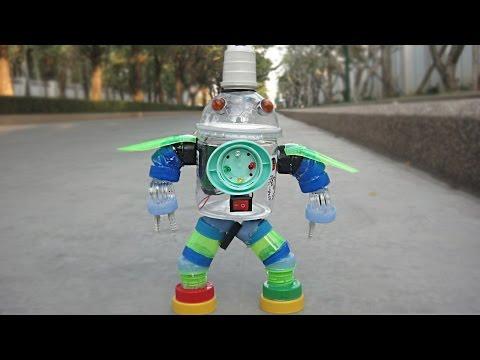 DIY Plastic Bottle Robot Toy for kids  | Crafts ideas