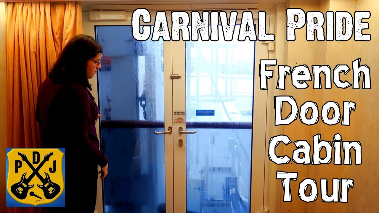 Carnival Pride Stateroom Tour Interior With French Door