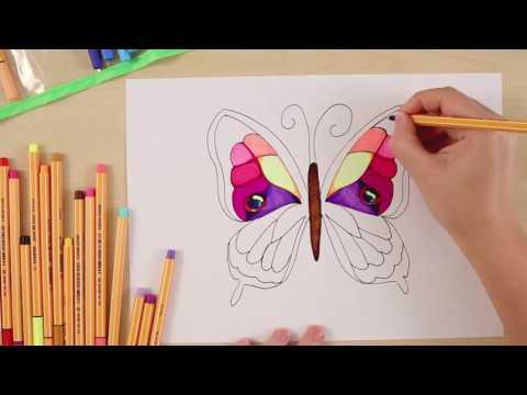 Рисуем бабочку с помощью STABILO