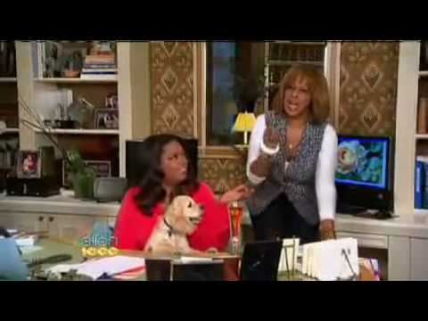 Oprah Surprises Ellen With a Big Announcement! on Ellen's 1,000th Show 2009 05 01