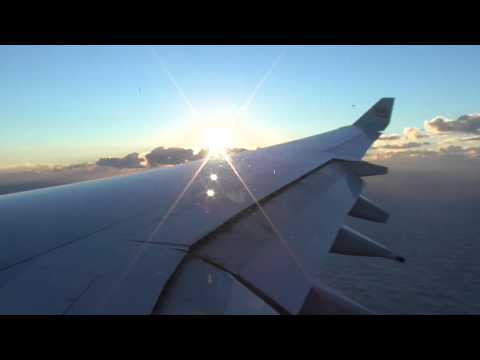 Etihad A340-600 Approach and Hard Landing into Sydney!