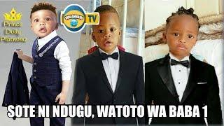 Abdul wa Hamisa, Nillan na Tiffah Wa Zari Katika Picha Moja ya Vazi la Suti