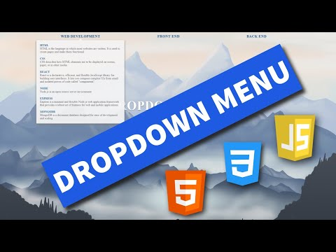 Dropdown Menu With HTML, CSS, And JavaScript - How To Create A Dropdown Menu Using HTML, CSS, JS