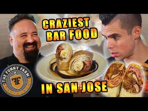 CRAZY BURGERS & BBQ IN SAN JOSE | FUNNY FARM RESTAURANT | Best Bay Area Restaurants Taste Test