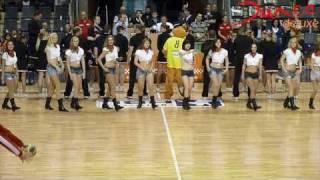 Cheerleader-Großchoreo bei der Füchse-Saisoneröffnung 2010/2011