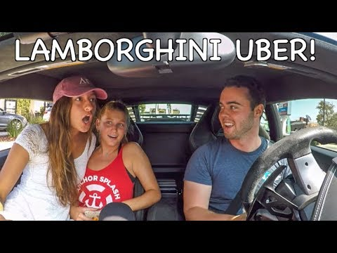 Picking Up UBER Riders In A Lamborghini!