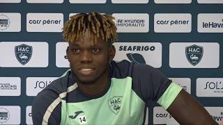 Avant HAC - Lorient, interview de Jamal Thiaré