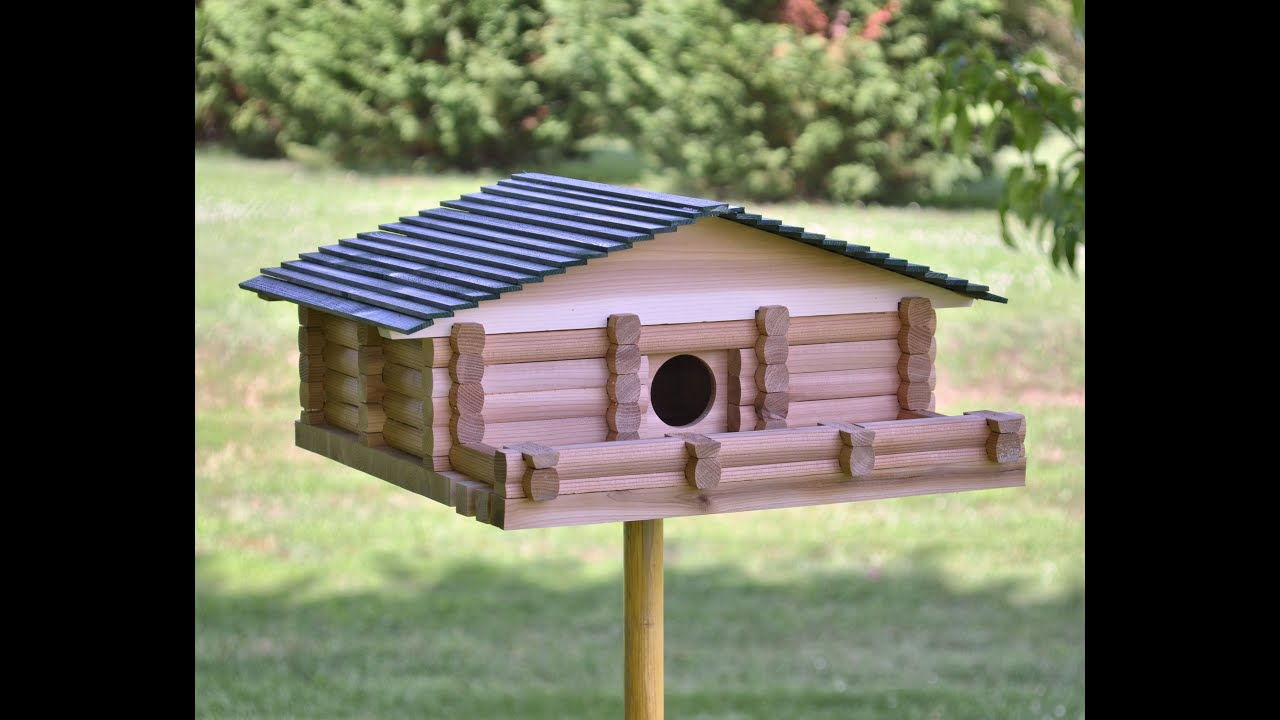 Log Cabin Birdhouse Kit Plans Youtube
