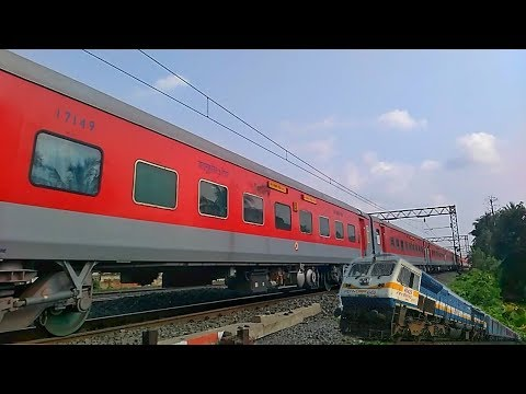 BANGALORE NEW TINSUKIA SUPERFAST EXPRESS with LHB COACHES - CHASED by NJP SHATABDI | INDIAN RAILWAYS