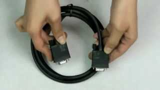 3.67 5 FT SVGA VGA Monitor Male to Male Extension Cable Black-CL092BL
