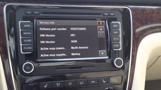 How to find the firmware number on RNS 510 navigation system for Volkswagen