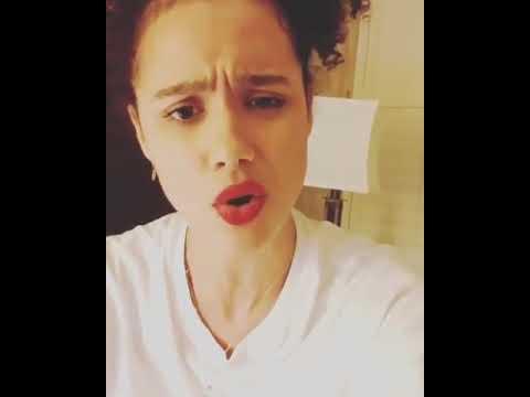 Nathalie emmanuel of Game of Thrones sings pussy Rap