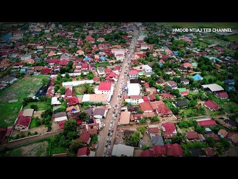 Ncig teb chaws saib lub nroog Vientiane Capital by Drone LAOS Dji Mavic Pro hnub 26/04/2018