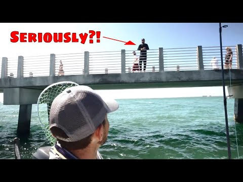 Pier Fisherman Catches FREE FISHING TRIP With Tampa Bay Guide!! Pt.1