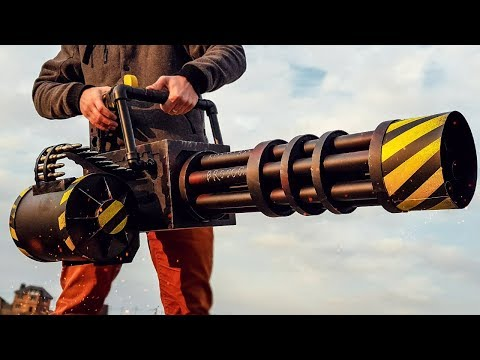 HOW TO MAKE MINIGUN SHOOTING FIREWORKS