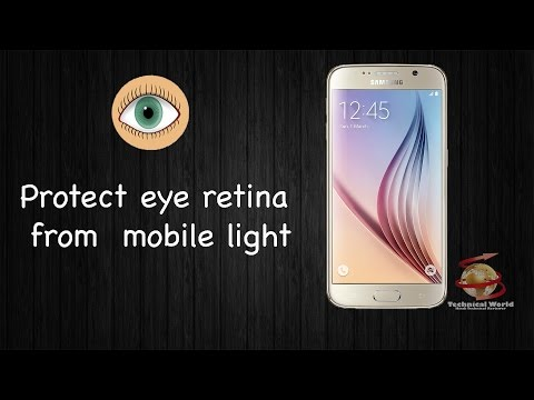 Protect your eyes retina from Smartphone light.