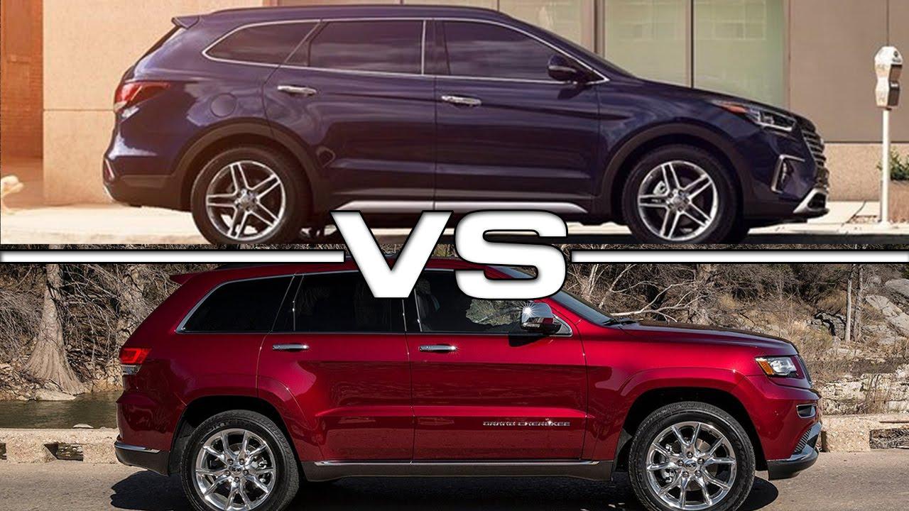 Hyundai Santa Fe Sport Vs Jeep Grand Cherokee Youtube