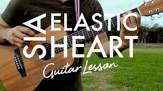 Sia - Elastic Heart (Guitar Lesson/Tutorial) Mp3