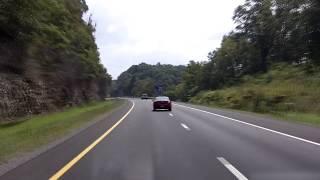 Interstate 64 East: White Sulphur Springs into Virginia