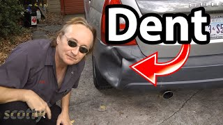 How To Remove Car Dent With Hot Water - Diy