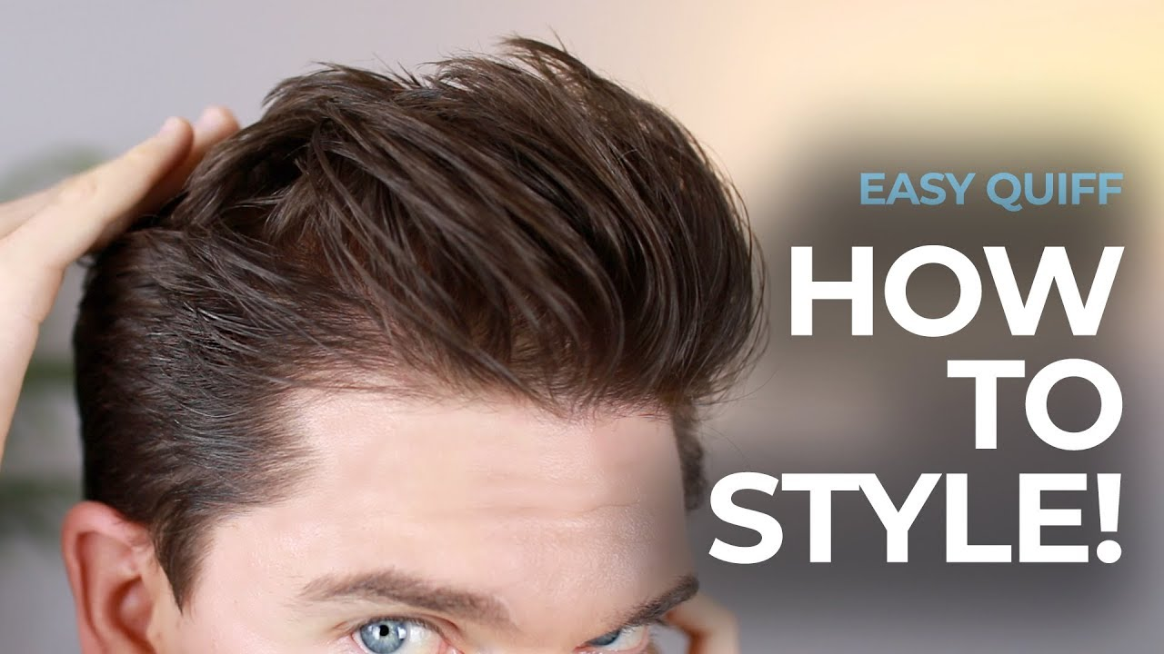My New Quiff  Mens Hairstyle Tutorial  YouTube