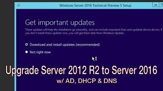Upgrade Windows Server 2012 R2 to Windows Server 2016!