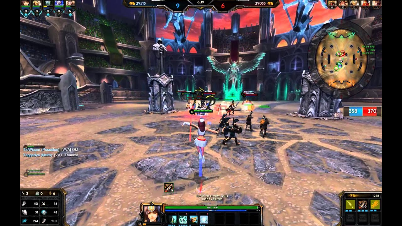 Smite Athena Arena Gameplay Posts - Year of Clean Water