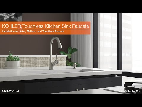 installation setra malleco and touchless kitchen sink faucets