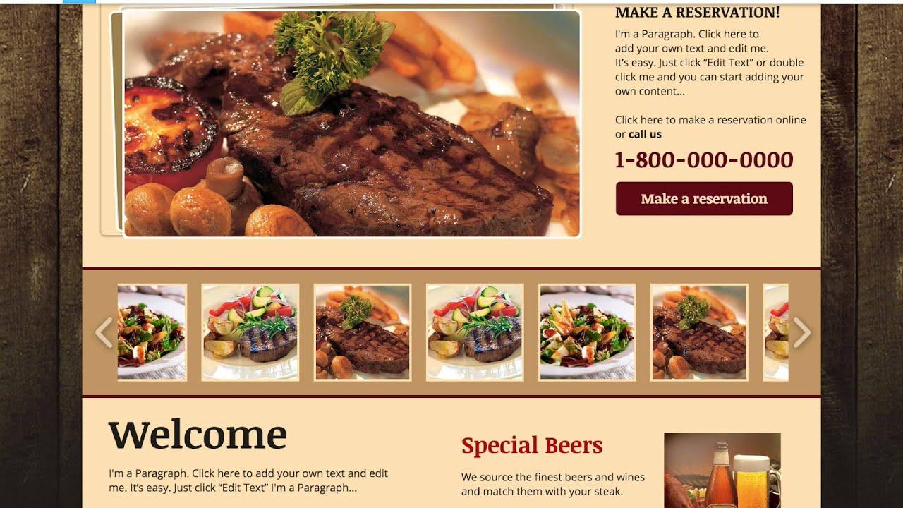 restaurant website examples