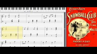 Echoes From The Snowball Club By Harry P. Guy, 1898 (ragtime Waltz)