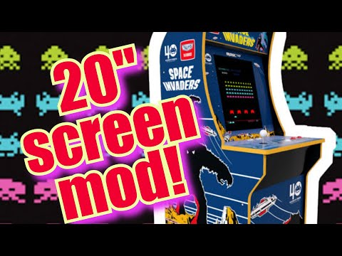 Arcade1up 20 inch screen mod - adding a bigger screen, cheap! from Evil Genius Entertainment