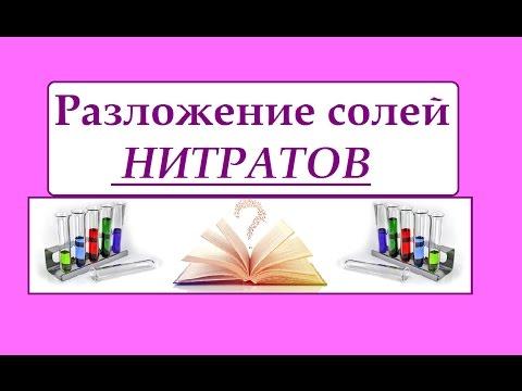 Разложение нитратов (солей азотной кислоты)