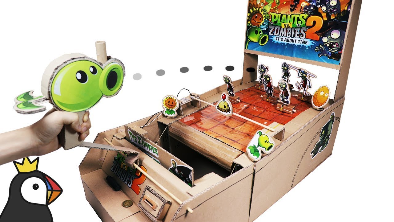 How To Make Plant Vs Zombies Game From Cardboard Youtube