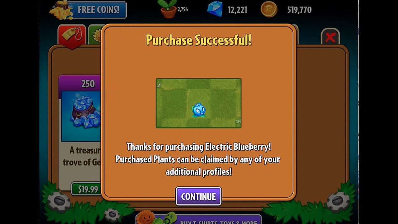 hack plants vs zombies 2 how to unlock electric blueberry without