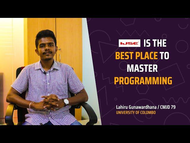 CMJD professionals for undergraduates. Lahiru said....