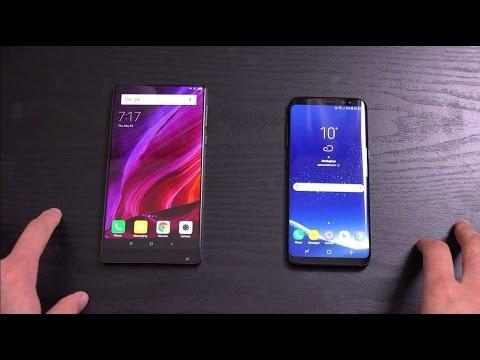 Samsung Galaxy S8 vs Xiaomi Mi Mix - Screen Comparison!