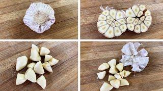 Garlic Peeling Trick   H๐w To Do The #GarlicHack Secret Revealed   Easiest Way To Peel Garlic Pods