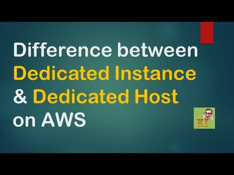AWS - Shared, Dedicated Instances & Dedicated Host Differences - EC2 Tenancy Models
