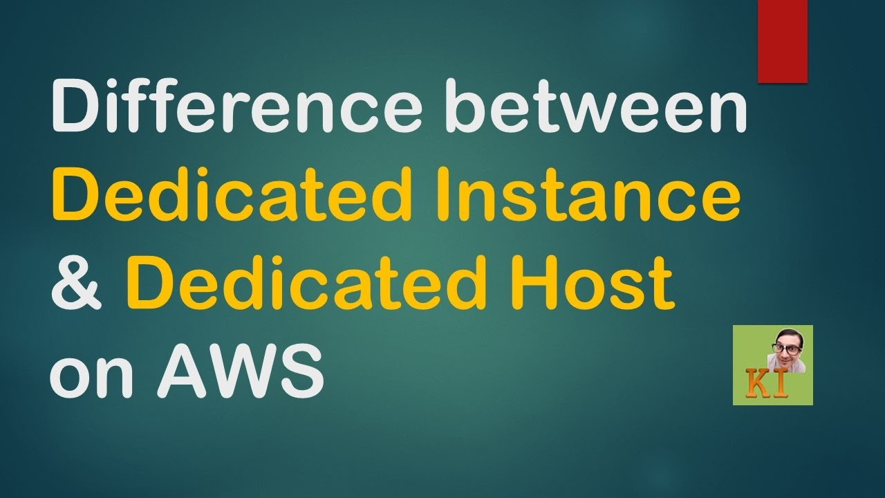 Difference between dedicated instance and dedicated host aws