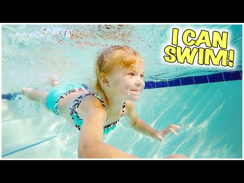 BABY RORY IS LEARNING TO SWIM! CAN SHE DO IT? THERE'S A MERMAID IN THE POOL!