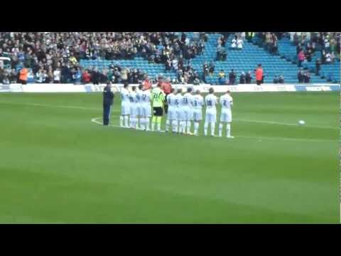 gary speed tribute  A Minutes Applause at elland road leeds united afc