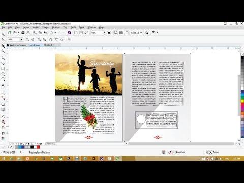 Corel Draw X8 Tutorials - Magazine Page Layout Designing