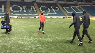 Man United Prepare To Train On FROZEN Pitch Ahead Of Vital Europa League Match Against Zorya Luhansk