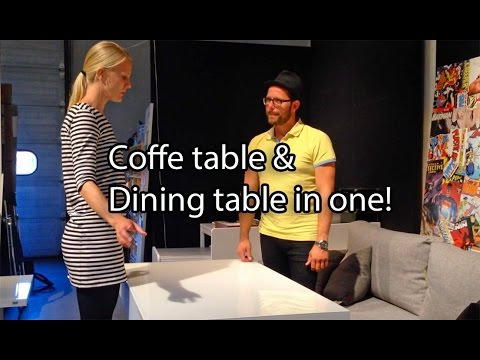 Folding Coffee Table To Dining Table Italian Design From Ozzio Youtube